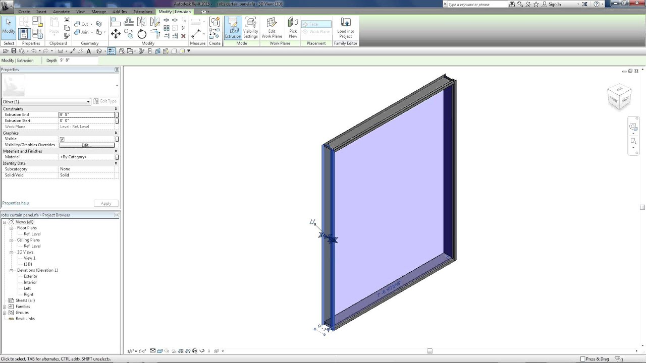 how to create a special wall in revit