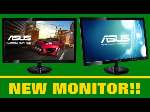 NEW GAMING MONITOR!! - Asus VS248HR Unbox & Review