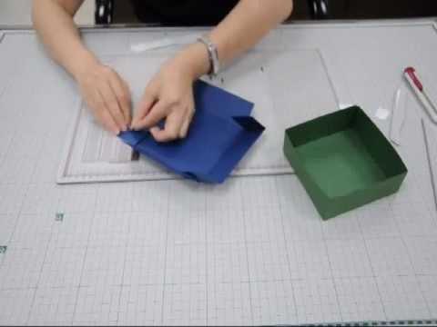 紙藝專用 MORN SUN 多功能摺線板組合-禮物盒教學