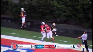 Kenny Hess (Ohio All Stars) makes a diving TD catch on a pass from Brenton Colabella