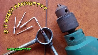DIY Drill Powered Riveter (worth or not experiment) | Riveter dengan Mesin Bor