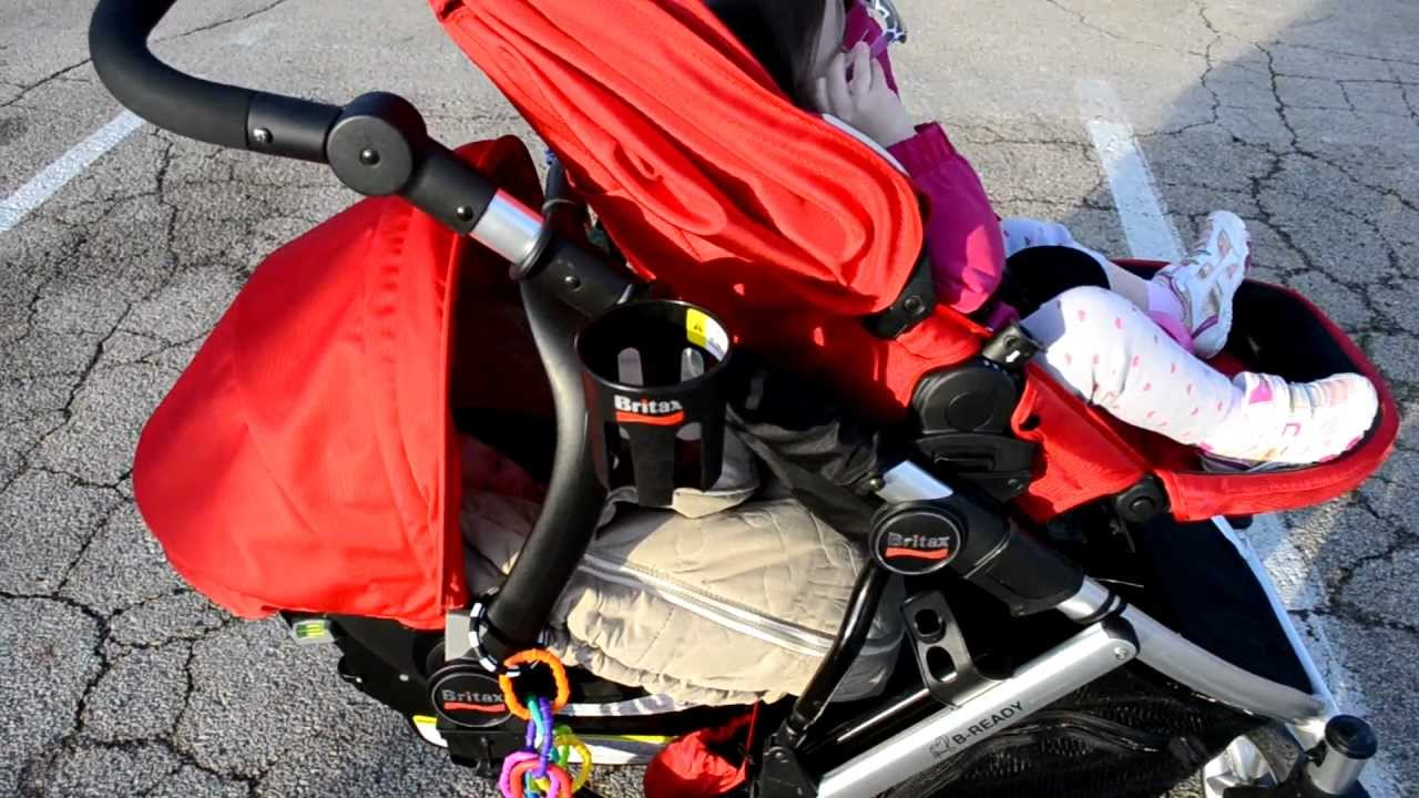Britax B Ready Double Stroller Review With Infant Bottom