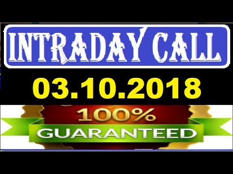 IntraDay Top 3 Jackpot Call 03.10.2018  || today stock || intraday || best stock for 2018