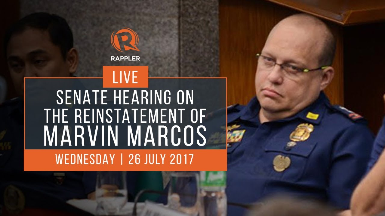 LIVE: Senate hearing on the reinstatement of Marvin Marcos