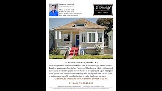 BERKELEY HOME FOR SALE:  2335 5th St., 3 bedrooms, 1 bath, 998 sqft., just $549,000!