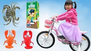 Bé Đi Khám Bác Sĩ – Uống Sữa KUN – Mua Xe Đạp Và Đi Câu Cá ❤ AnAn ToysReview TV ❤
