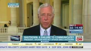 Hoyer Discusses the Republican Government Shutdown on CNN's