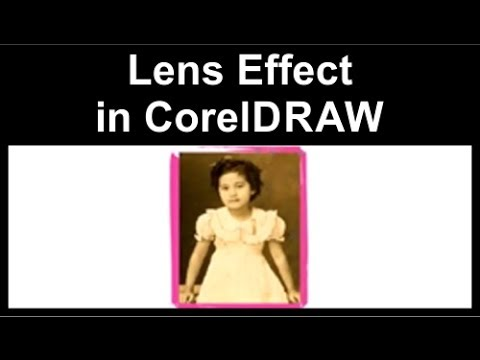 Lens effect in CorelDraw