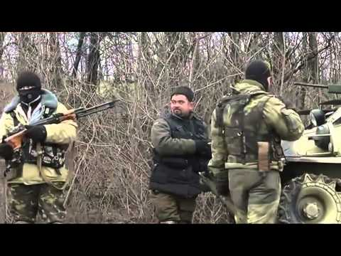 Ukraine 27.02.2015,Multiple Ukrainian troops,vehicles and artillery pulling back from Artemivsk