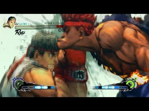 Super Street Fighter 4 IV AE PC Ryu Playthrough + Secret Evil Ryu Boss fight 2/2