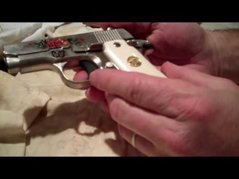 Colt Mustang .380 ACP nickle w/ enamel inlay