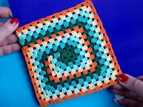 Уроки вязания квадратов крючком 68