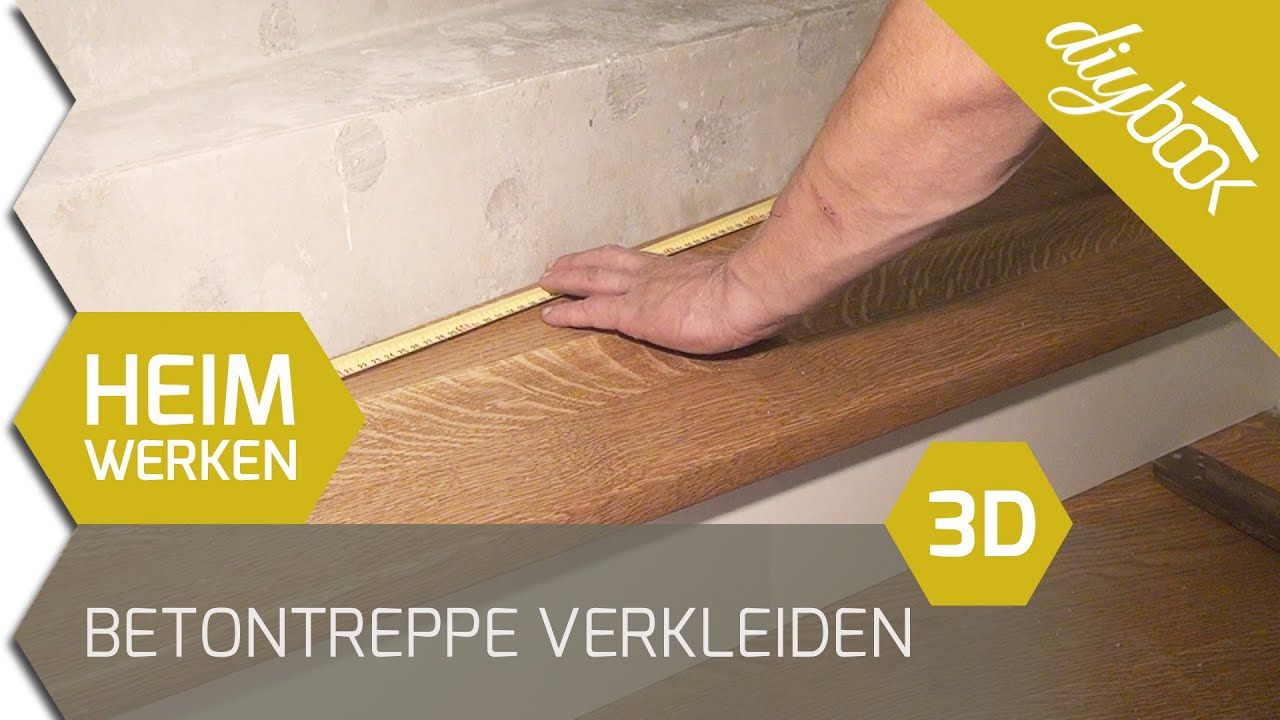 betontreppe verkleiden treppenverkleidung mit holz 3d youtube. Black Bedroom Furniture Sets. Home Design Ideas