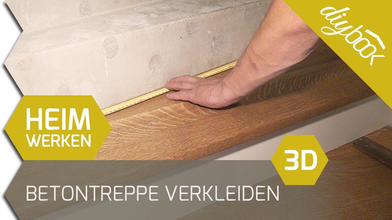 Carport Mit Holz Verkleiden ~ Betontreppe verkleiden  Treppenverkleidung mit Holz  3D  YouTube