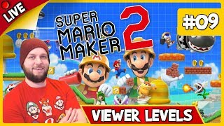 🔴 Super Mario Maker 2 - Viewer Levels, Endless Mode & Some Multiplayer! - LIVE STREAM [#09]