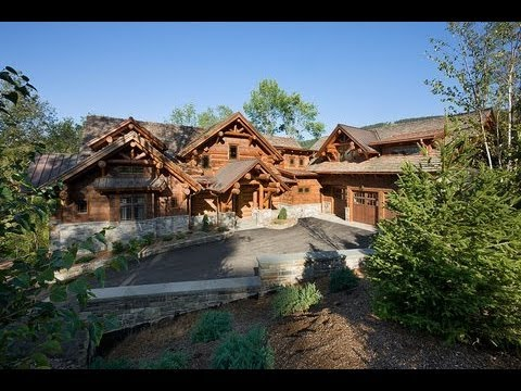 Epic Homes - Master-Crafted Log Mansion - YouTube