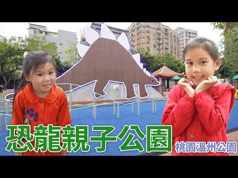 桃園的恐龍石頭溜滑梯 溫州公園全新改裝 盪鞦韆玩具 遊樂園公園遊樂設施玩具 玩具開箱一起玩玩具Sunny Yummy Kids TOYs PARK