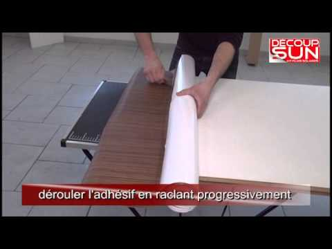 Pose de kit film adh sif d co sur une porte d 39 int rieur youtube - Deco sur porte interieur ...