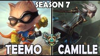 Best Teemo Korea vs Camille TOP Ranked Master Season 7