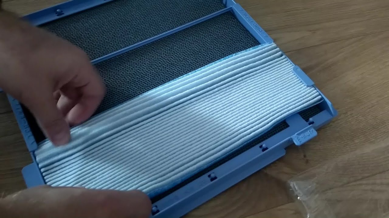 How to setup filter in Daikin MC70L VM Air Purifier -  filter install / replacement tutorial