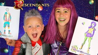 3 COLOR CHALLENGE WITH MAKEUP!! As Descendants 2 Characters Mal and Carlos!!