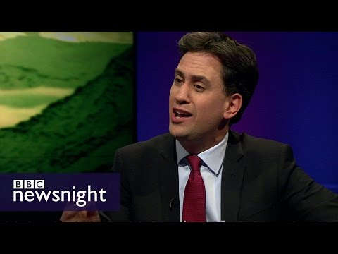 Ed Miliband on climate change and Syria air strikes - Newsnight