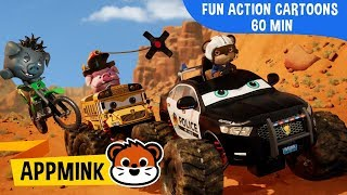 appMink car animation – Fun & Exciting Action Cartoons with appMink Police Vehicles