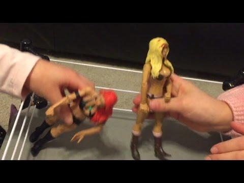 GRIMMETTES FIGURE WRESTLING Divas Match! Summer Rae Vs Eva Marie