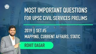 Set 5 || Most important Questions for UPSC Civil Services by Rohit Dagar