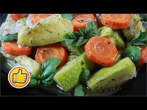 Тушеные Кабачки с Овощами на Сковороде   Stuffed Zucchini Recipe