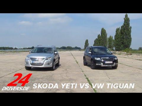 24drivers Versus - Skoda Yeti vs VW Tiguan