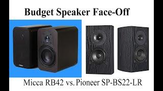 Budget speaker face off: Micca RB42 vs. Pioneer SP-BS22-LR #speakerreviews