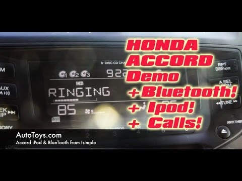 Honda Accord IPOD & BLUETOOTH Aux Interface, Pxamg  by iSimple and Autotoys.com (a2DP AVRCP)