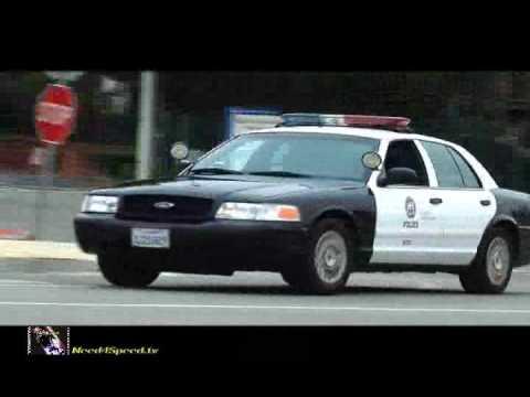 "Police chase 8 Lamborghinis ""Octo-Lambos"" near Malibu California"