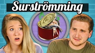 TEENS EAT SURSTRÖMMING! (Super Smelly Fish)   Teens Vs. Food