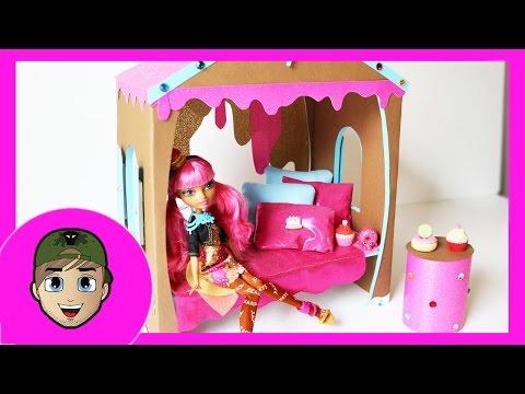 Как сделать кровать для кукол эвер афтер хай своими руками