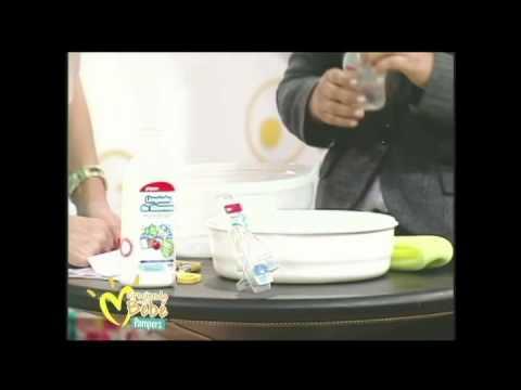 Limpieza y esterilización de biberones