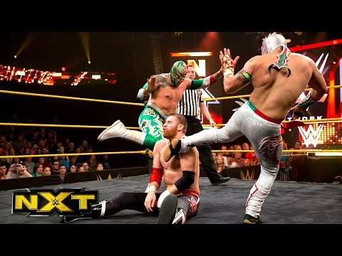 Kalisto & Sin Cara Vs. Adam Rose & Sami Zayn: Wwe Nxt, Aug. 21, 2014 video
