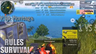 1 vs 5 special Kill Montage / Rules of survival / Ep 20