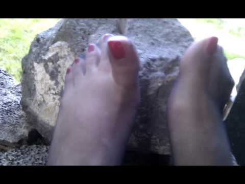 Gorgeous little Sweetjj black stockings feet