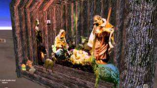Nativity Scene Jesus In A Manger With 3 Wise Men.avi