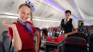 24 HOURS AS A FLIGHT ATTENDANT!!! - JoJo Siwa