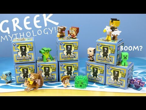 Minecraft Mini-Figures Series 12 Greek Mythology Collection Review & Codes