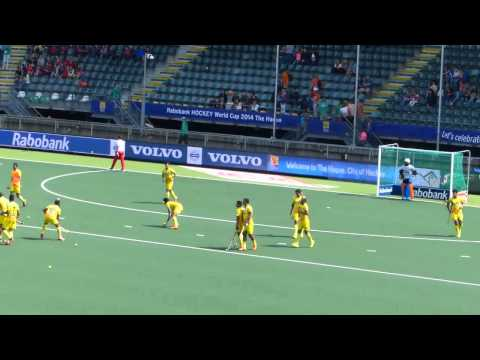 India mens hockey team warm up at the world cup in Holland 2014