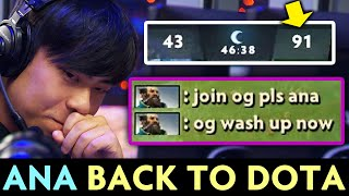 ANA BACK to Dota vs his FANS — so much focus IDOL