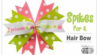 How to Make Spikes for a Hair Bow - The RibbonRetreat.com