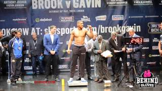 Johnson AWKWARDLY put his hand on Joshua's chest - weigh in HIGHLIGHTS