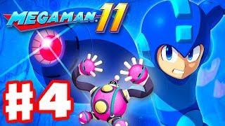 Mega Man 11 - Gameplay Walkthrough Part 4 - Bounce Man Stage! (PC)
