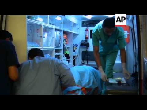 Rebels injured in Brega fighting in hospital in Benghazi