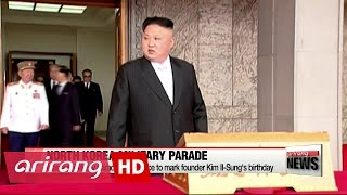 North Korea holds military parade to mark founder Kim Il-Sung